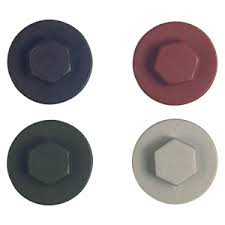 Coloured Caps for 16mm & 19mm tek screws and roof & cladding Fixings